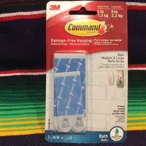 3M  COMMAND WATER RESISTANT REPLACEMENT STRIPS.